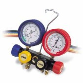 Javac Gauge & Manifold Set with 36 inch hoses